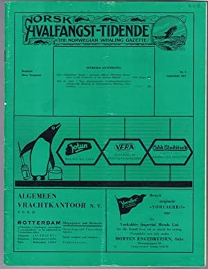 Norsk Hvalfangst-Tidende (The Norwegian Whaling Gazette), Organ For the International Association ...