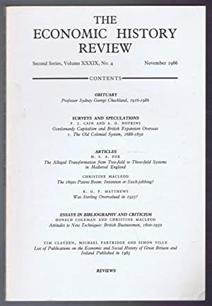 The Economic History Review, Second Series, Volume: Edited by R