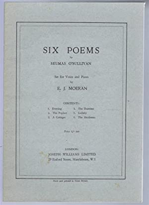 Six Poems, set for Voice and Piano. 1. Evening; 2. The Poplars; 3. A Cottager; 4. The Dustman; 5. ...