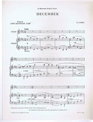 December: poem by John Bannister Tabb; music by E d'Arba