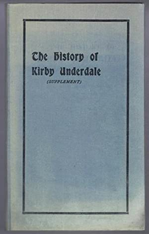 The History of Kirby Underdale (Supplement): Rev. W R Shepherd