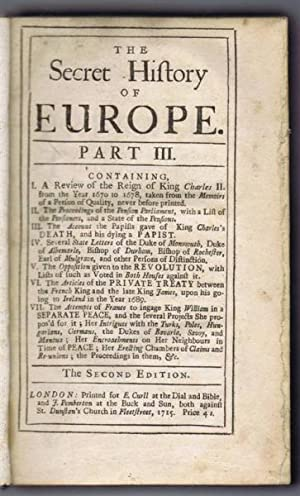 The Secret History of Europe III: not given (John Oldmixon)