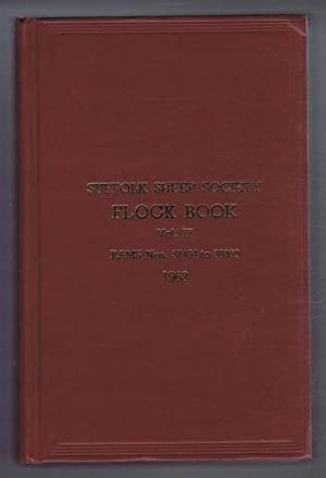 Suffolk Sheep Society Flock Book, Volume LXXVII (77),1963, Rams No. 37454 to 38300