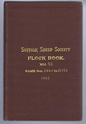 Suffolk Sheep Society Flock Book, Volume LVI (56) 1942, Rams Nos. 26412 to 26720