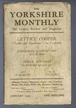 The Yorkshire Monthly: The County Review and Magazine, January 1935.: Lettice Cooper, et al