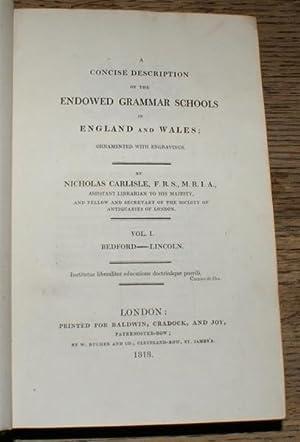 A Concise Description of the Endowed Grammar Schools in England and Wales: Nicholas Carlisle