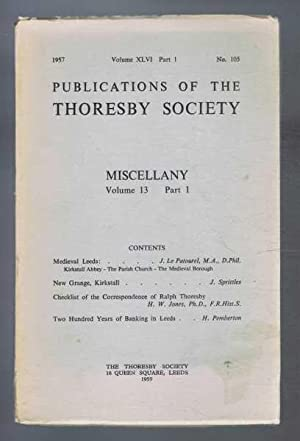 Miscellany Volume 13, Part 1, Publications of: edited by A
