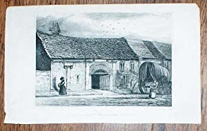 "Disbound Engraving of ""John of Gaunt's Stables,: Not given"
