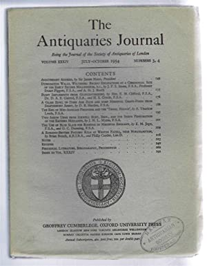 The Antiquaries Journal, Being the Journal of: Sir James Mann;