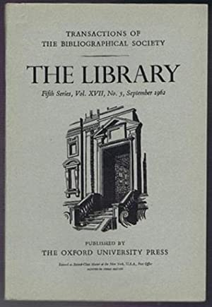 Transactions of the Bibliographical Society, the Library,: Edited by Frank