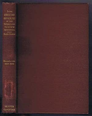 Christian Difficulties in the Second and Twentieth Centuries, A Study of Marcion and His Relation ...