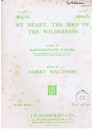 My Heart, The Bird of the Wilderness song with piano accompaniment in B flat: Music by Albert ...