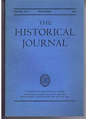 The Historical Journal, Vol. 16 (XVI), No.: edited by D