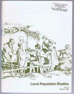 Local Population Studies No. 31 Autumn 1983: Editorial board: C
