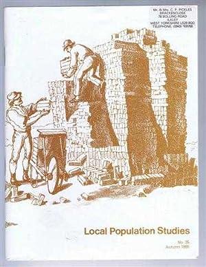 Local Population Studies No. 35 Autumn 1985: Editorial board: C