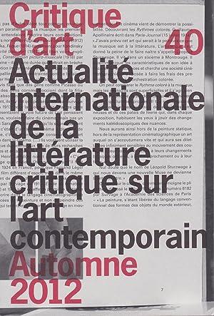 Critique d'art n°40 (automne 2012): Collectif