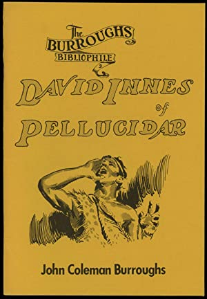 DAVID INNES OF PELLUCIDAR. PICTURIZED FROM THE NOVELS BY EDGAR RICE BURROUGHS. 269 PICTURES BY JO...