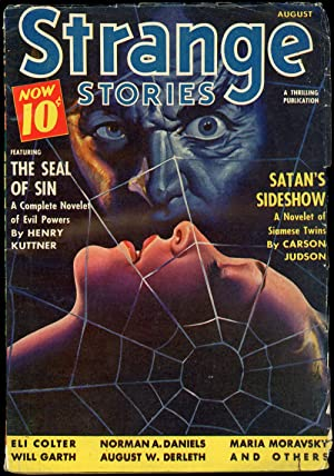STRANGE STORIES: STRANGE STORIES. August