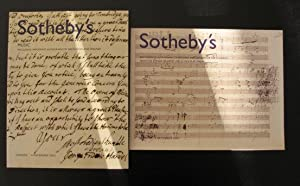 Music - Including important Autographs by Beethoven and Wagner
