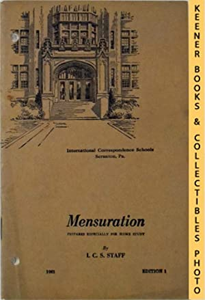 Mensuration: I. C. S.