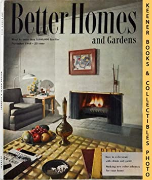 Better Homes And Gardens Magazine : November 1948, Vol. 27 Number 3 Issue
