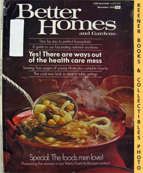 Better Homes And Gardens Magazine (November 1970 Vol. 48, No. 11 Issue)