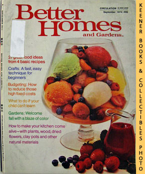 Better Homes And Gardens Magazine (September 1974 Vol. 52, No. 9 Issue)