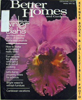 Better Homes And Gardens Magazine (January 1972 Vol. 50, No. 1 Issue)