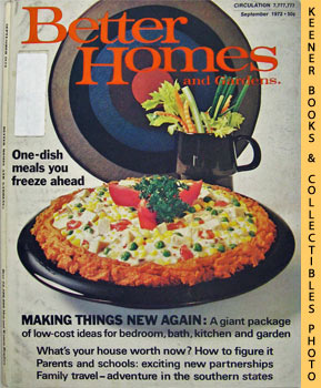 Better Homes And Gardens Magazine (September 1972 Vol. 50, No. 9 Issue)