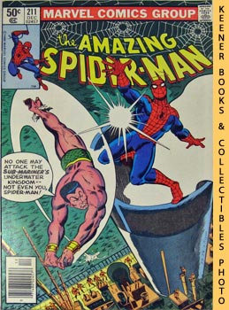 Marvel The Amazing Spider-Man (The Spider And The Sea - Scourge! -- Vol. 1 No. 211, December 1980)