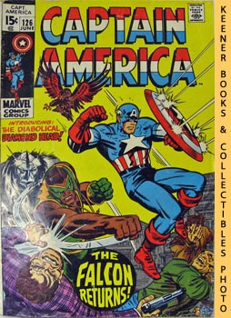 Marvel Captain America (The Fate Of - The Falcon! -- Vol. 1 No. 126, June 1970)