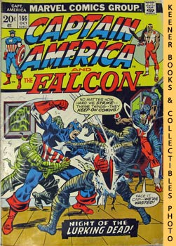 Marvel Captain America And The Falcon (Night Of The Lurking Dead! -- Vol. 1 No. 166, October 1973)