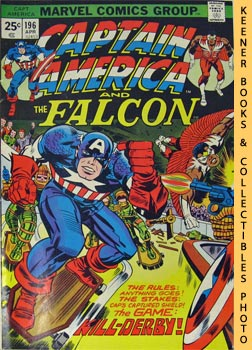 Marvel Captain America And The Falcon (Kill - Derby - Pow! -- Vol. 1 No. 196, April 1976)
