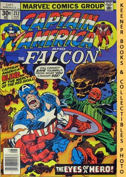 Marvel Captain America And The Falcon (The Face Of A Hero! Yours!! -- Vol. 1 No. 212, August 1977)