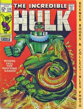 The Incredible Hulk (Where Fall The Shifting Sands? -- Vol. 1 No. 113, March 1969)