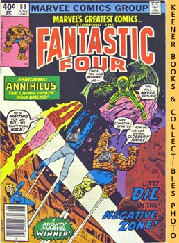 Marvel's Greatest Comics Starring The Fantastic Four (Death In The Negative Zone! -- Vol. 1 No. 8...