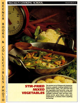 McCall's Cooking School Recipe Card: Vegetables 41 - Mixed Vegetables In A Wok (Replacement McCal...