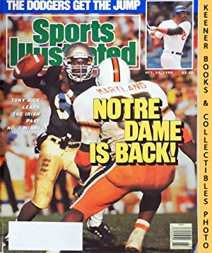 Sports Illustrated Magazine, October 24, 1988 (Vol 69, No. 18) : Notre Dame Is Back! Tony Rice Le...