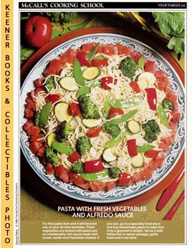 McCall's Cooking School Recipe Card: Vegetables 24 - Spaghetti Primavera (Replacement McCall's Re...