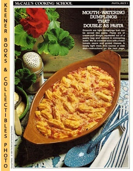 McCall's Cooking School Recipe Card: Pasta, Rice 3 - Gnocchi (Replacement McCall's Recipage or Re...