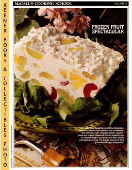 McCall's Cooking School Recipe Card: Salads 17 - Frozen Fruit Salad (Replacement McCall's Recipag...