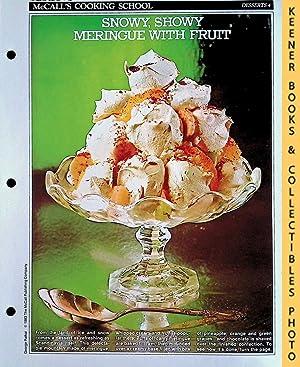 McCall's Cooking School Recipe Card: Desserts 4: Langan, Marianne /