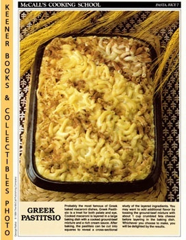 McCall's Cooking School Recipe Card: Pasta, Rice 7 - Greek Pastitsio (Replacement McCall's Recipa...