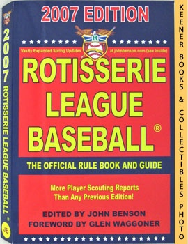 Rotisserie League Baseball 2007 (The Official Rule Book And Guide)