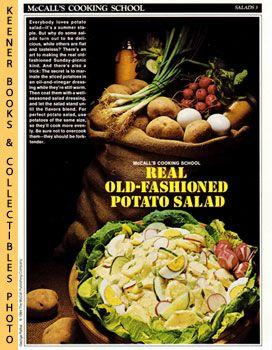 McCall's Cooking School Recipe Card: Salads 3 - Old-Fashioned Potato Salad (Replacement McCall's ...