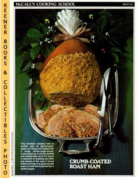 McCall's Cooking School Recipe Card: Meat 41 - Roast Ham With Apricot-Pecan Stuffing (Replacement...