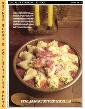 McCall's Cooking School Recipe Card: Pasta, Rice 5 - Baked Pasta Shells Marinara (Replacement McC...
