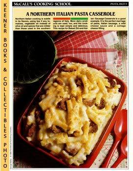 McCall's Cooking School Recipe Card: Pasta, Rice 9 - Baked Ziti-And-Italian-Sausage Casserole (Re...