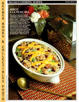 McCall's Cooking School Recipe Card: Pasta, Rice 10 - Mexican Rice (Replacement McCall's Recipage...