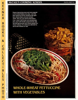 McCall's Cooking School Recipe Card: Pasta, Rice 16 - Peppers And Broccoli With Whole Wheat Fettu...